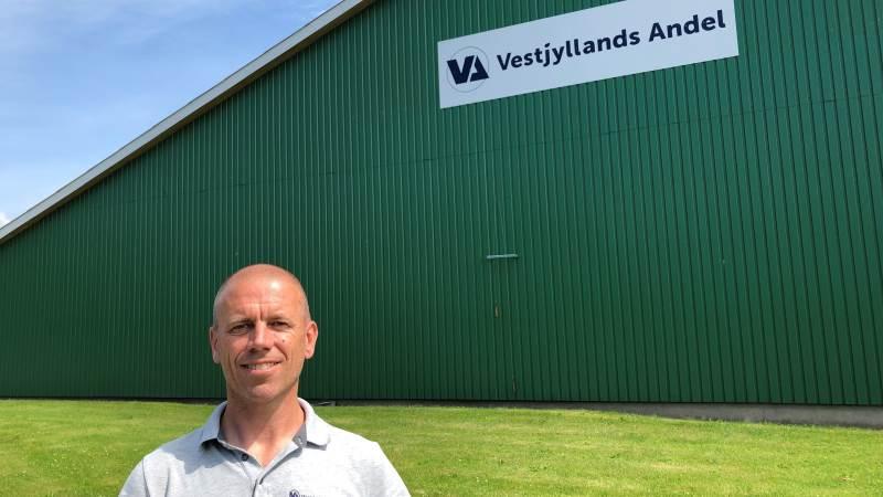 Afdelingsleder Peder Balling glæder sig over modtagelsen af Vestjyllands Andel i Bedsted.