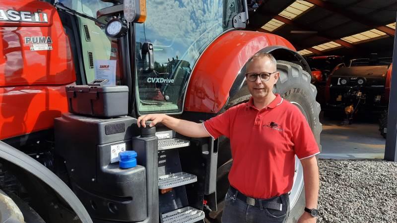 Lars Andersen, sælger og salgschef hos Brdr. Holst Sørensen, glæder sig til at præsentere Case IH traktorerne på Ribe Dyrskue. Foto: John Ankersen