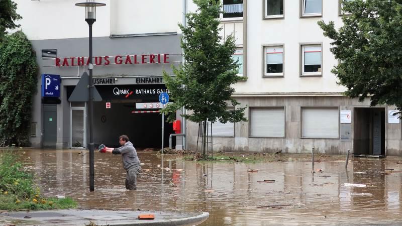 Der er fortsat byer i Tyskland, der er alvorlig ramt af oversvømmelser flere dage efter det voldsomme regnskyld, der ramte den vestlige del af landet samt Belgien, Holland og Luxemborg i sidste uge. Her i byen Hagen i Nordrhein-Westfalen. Foto: Creative Commons/Wikipedia