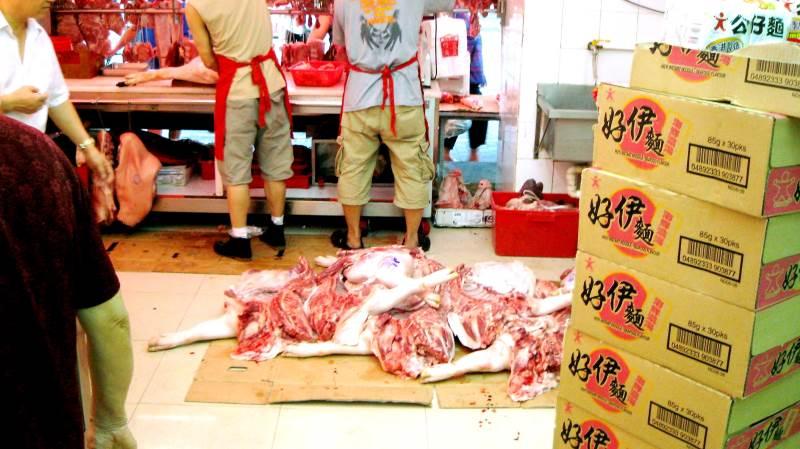 Tal fra de kinesiske myndigheder viser en samlet kinesisk produktion af grisekød i april kvartal på 13,46 millioner tons. Det er en stigning på 40 procent på et år. Arkivfoto