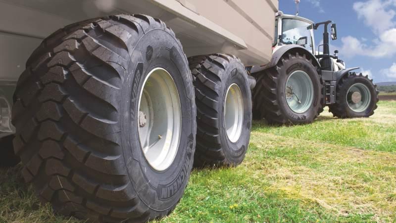 Der er pæne fordele ved flere af de nye dæktyper, som Michelin har sendt på markedet specielt rettet mod landbrug. Her ses en af de nye størrelser i Trailxbib-serien.