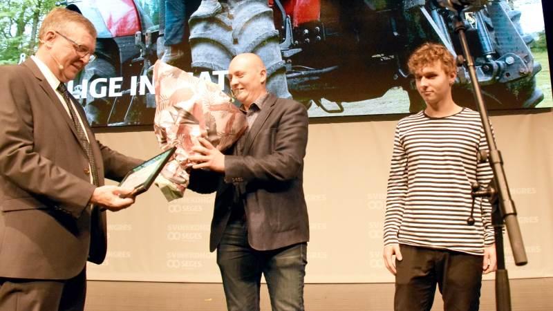 Slagtesvineproducent Jens Gudike Fly Christensen var den første, der blev hædret for årets særlige indsats, da prisen blev indstiftet i 2019. Arkivfoto: Alexander Dornwirth