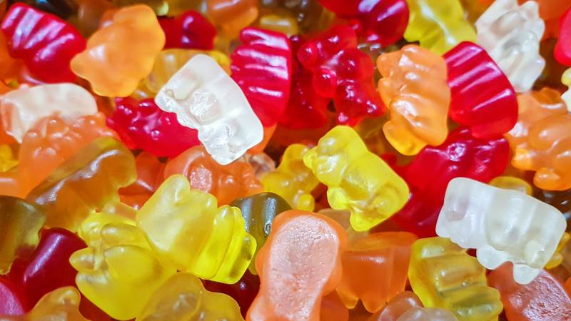 Gelatine bliver blandt andet anvendt som et af de bærende elementer i vingummier. Foto: Colourbox
