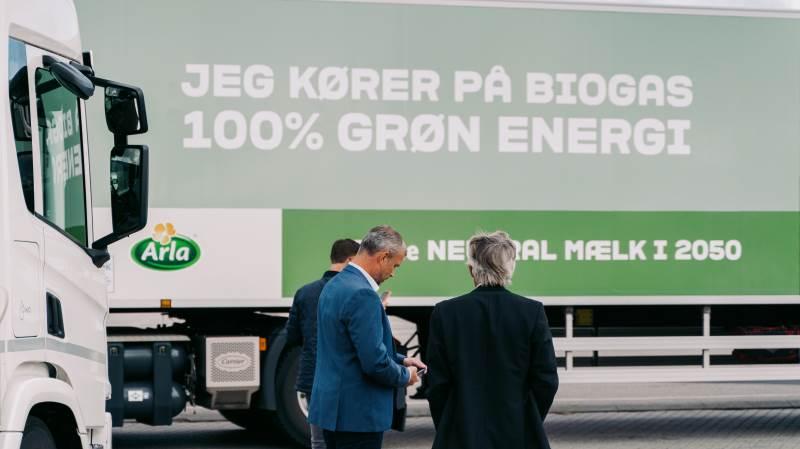 Arla vil investere i yderligere fem lastbiler, der kører på Biogas. Foto: Bigadan