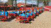 Den polske gårdspladssprøjte leveres med en seks meter bom og en 200 liters tank med automatisk slangerulle på 30 meter samt PTO-aksel.