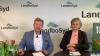 Formand Mogens Dall og næstformand i LandboSyd, Ingrid van den Hengel ved medlemsmødet i LandboSyd, der grundet corona-situationen blev holdt online. Foto: John Ankersen