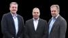 Efter fintælling og en tur i vedtægterne, blev det afgjort, at der manglede en ja-stemme hos Landbo Limfjord, for at stemme en fusion igennem med Landbo Thy og Lemvigegnens Landboforening. Her ses de tre formænd Morten Agger, Lars Kristensen og Leif Gravesen.